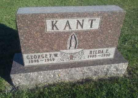 KANT, GEORGE F W - Hamlin County, South Dakota | GEORGE F W KANT - South Dakota Gravestone Photos