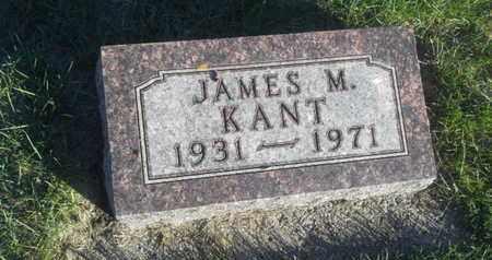 KANT, JAMES M - Hamlin County, South Dakota | JAMES M KANT - South Dakota Gravestone Photos