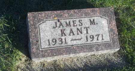 KANT, JAMES M - Hamlin County, South Dakota | JAMES M KANT - South Dakota Gravestone Photos
