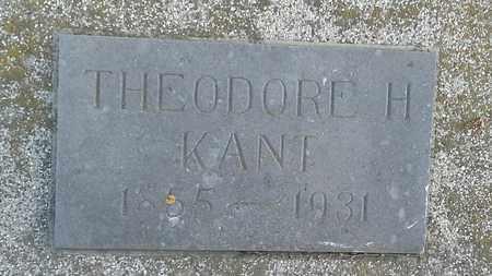 KANT, THEODORE H - Hamlin County, South Dakota | THEODORE H KANT - South Dakota Gravestone Photos