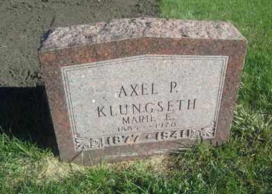 KLUNGSETH, AXEL P - Hamlin County, South Dakota | AXEL P KLUNGSETH - South Dakota Gravestone Photos