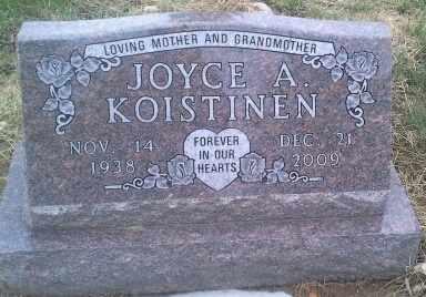 KOISTINEN, JOYCE A - Hamlin County, South Dakota | JOYCE A KOISTINEN - South Dakota Gravestone Photos