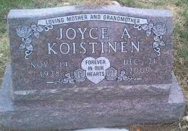 KOISTINEN, JOYCE A - Hamlin County, South Dakota | JOYCE A KOISTINEN - South Dakota Gravestone Photos