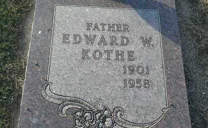 KOTHE, EDWARD W - Hamlin County, South Dakota   EDWARD W KOTHE - South Dakota Gravestone Photos