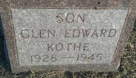 KOTHE, GLEN EDWARD - Hamlin County, South Dakota | GLEN EDWARD KOTHE - South Dakota Gravestone Photos