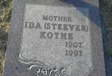 STEEVER KOTHE, IDA - Hamlin County, South Dakota | IDA STEEVER KOTHE - South Dakota Gravestone Photos