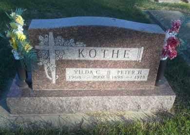 KOTHE, PETER H - Hamlin County, South Dakota | PETER H KOTHE - South Dakota Gravestone Photos