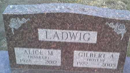LADWIG, ALICE M - Hamlin County, South Dakota | ALICE M LADWIG - South Dakota Gravestone Photos