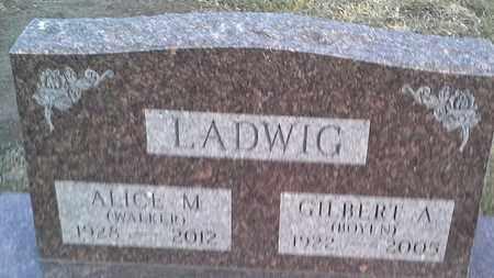 WALKER LADWIG, ALICE M - Hamlin County, South Dakota | ALICE M WALKER LADWIG - South Dakota Gravestone Photos