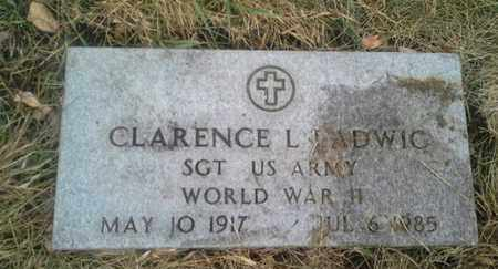 "LADWIG, CLARENCE L ""MILITARY"" - Hamlin County, South Dakota 