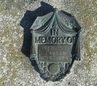 LARSON, IVER - Hamlin County, South Dakota | IVER LARSON - South Dakota Gravestone Photos