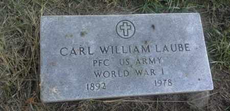 "LAUBE, CARL WILLIAM ""MILITARY"" - Hamlin County, South Dakota | CARL WILLIAM ""MILITARY"" LAUBE - South Dakota Gravestone Photos"