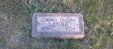 LAUBE, EDWARD GUSTAV - Hamlin County, South Dakota | EDWARD GUSTAV LAUBE - South Dakota Gravestone Photos