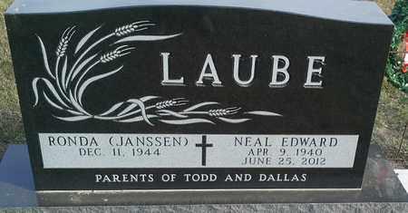 LAUBE, NEAL EDWARD - Hamlin County, South Dakota | NEAL EDWARD LAUBE - South Dakota Gravestone Photos