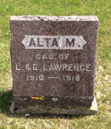 LAWRENCE, ALTA M. - Hamlin County, South Dakota | ALTA M. LAWRENCE - South Dakota Gravestone Photos