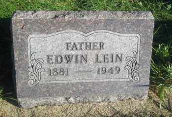 LEIN, EDWIN - Hamlin County, South Dakota | EDWIN LEIN - South Dakota Gravestone Photos