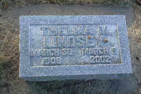 LINDSEY, THELMA M - Hamlin County, South Dakota   THELMA M LINDSEY - South Dakota Gravestone Photos