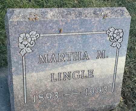 LINGLE, MARTHA M - Hamlin County, South Dakota | MARTHA M LINGLE - South Dakota Gravestone Photos