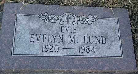 LUND, EVELYN M EVIE - Hamlin County, South Dakota | EVELYN M EVIE LUND - South Dakota Gravestone Photos