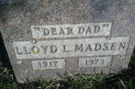 MADSEN, LLOYD L - Hamlin County, South Dakota   LLOYD L MADSEN - South Dakota Gravestone Photos