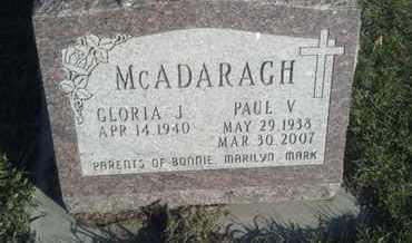 MCADARAGH, GLORIA J - Hamlin County, South Dakota   GLORIA J MCADARAGH - South Dakota Gravestone Photos