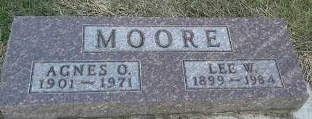 MOORE, LEE W - Hamlin County, South Dakota | LEE W MOORE - South Dakota Gravestone Photos