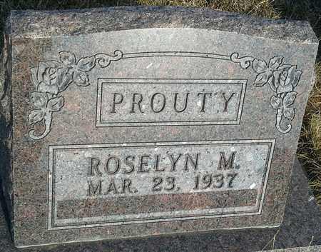 PROUTY, ROSELY M - Hamlin County, South Dakota   ROSELY M PROUTY - South Dakota Gravestone Photos