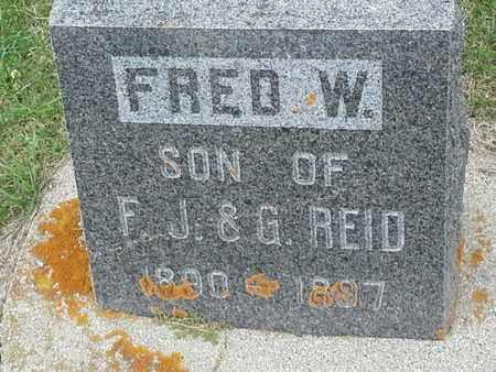 REID, FRED W - Hamlin County, South Dakota | FRED W REID - South Dakota Gravestone Photos