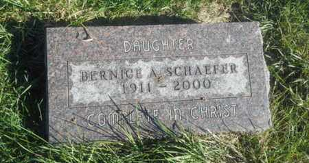 SCHAEFER, BERNICE A - Hamlin County, South Dakota | BERNICE A SCHAEFER - South Dakota Gravestone Photos