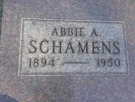 SCHAMENS, ABBIE A - Hamlin County, South Dakota | ABBIE A SCHAMENS - South Dakota Gravestone Photos
