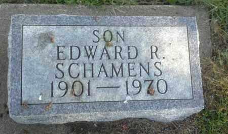 SCHAMENS, EDWARD R - Hamlin County, South Dakota | EDWARD R SCHAMENS - South Dakota Gravestone Photos