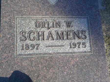 SCHAMENS, ORLIN W - Hamlin County, South Dakota   ORLIN W SCHAMENS - South Dakota Gravestone Photos