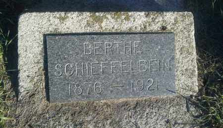 SCHIEFFELBEIN, BERTHE - Hamlin County, South Dakota | BERTHE SCHIEFFELBEIN - South Dakota Gravestone Photos
