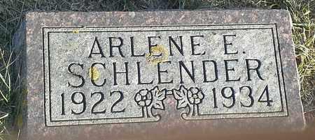 SCHLENDER, ARLENE E - Hamlin County, South Dakota | ARLENE E SCHLENDER - South Dakota Gravestone Photos