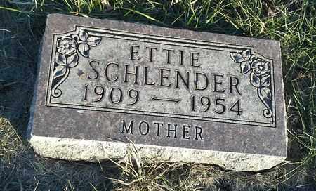 SCHLENDER, ETTIE - Hamlin County, South Dakota | ETTIE SCHLENDER - South Dakota Gravestone Photos