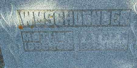 SCHLENDER, MRS WM MOTHER - Hamlin County, South Dakota | MRS WM MOTHER SCHLENDER - South Dakota Gravestone Photos