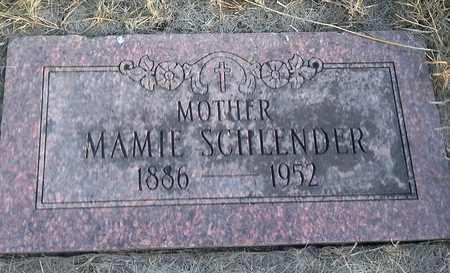SCHLENDER, MAMIE - Hamlin County, South Dakota | MAMIE SCHLENDER - South Dakota Gravestone Photos