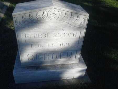 SCHOEN, GEORGE - Hamlin County, South Dakota | GEORGE SCHOEN - South Dakota Gravestone Photos