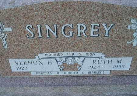 SINGREY, VERNON H. - Hamlin County, South Dakota | VERNON H. SINGREY - South Dakota Gravestone Photos