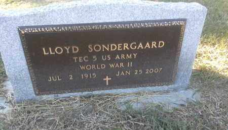 "SONDERGAARD, LLOYD ""MILITARY"" - Hamlin County, South Dakota 