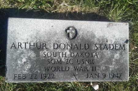 "STADEM, ARTHUR DONALD ""MILITARY"" - Hamlin County, South Dakota | ARTHUR DONALD ""MILITARY"" STADEM - South Dakota Gravestone Photos"