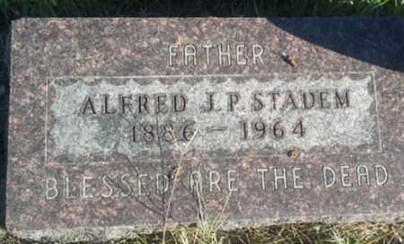 STADEM, ALFRED J P - Hamlin County, South Dakota   ALFRED J P STADEM - South Dakota Gravestone Photos