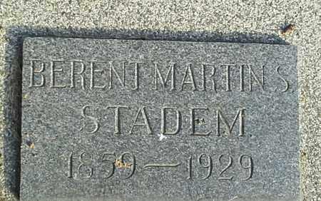 STADEM, BERENT MARTINS - Hamlin County, South Dakota   BERENT MARTINS STADEM - South Dakota Gravestone Photos