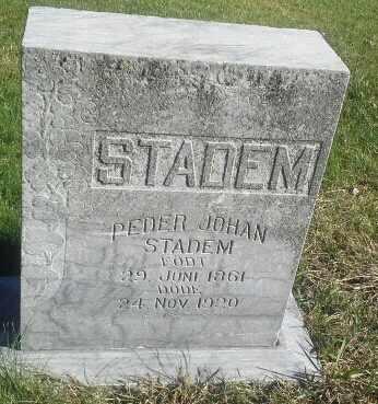 STADEM, PEDER JOHAN - Hamlin County, South Dakota | PEDER JOHAN STADEM - South Dakota Gravestone Photos
