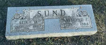 SUND, RAYMOND P - Hamlin County, South Dakota | RAYMOND P SUND - South Dakota Gravestone Photos