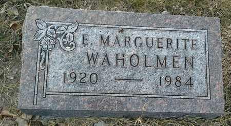 WAHOLMEN, E MARGUERITE - Hamlin County, South Dakota   E MARGUERITE WAHOLMEN - South Dakota Gravestone Photos