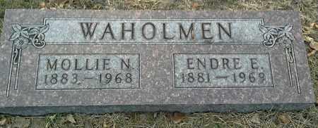 WAHOLMEN, MOLLIE N - Hamlin County, South Dakota   MOLLIE N WAHOLMEN - South Dakota Gravestone Photos