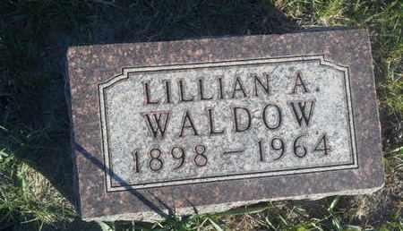 WALDOW, LILLIAN A - Hamlin County, South Dakota | LILLIAN A WALDOW - South Dakota Gravestone Photos