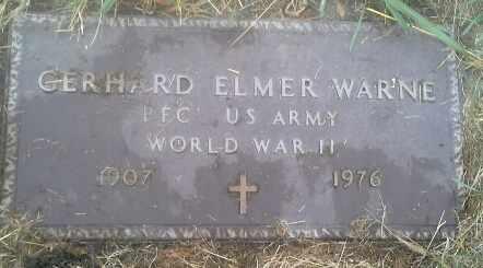 "WARNE, GERHARD ELMER ""MILITARY"" - Hamlin County, South Dakota | GERHARD ELMER ""MILITARY"" WARNE - South Dakota Gravestone Photos"