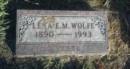 WOLFE, LENA E M - Hamlin County, South Dakota | LENA E M WOLFE - South Dakota Gravestone Photos